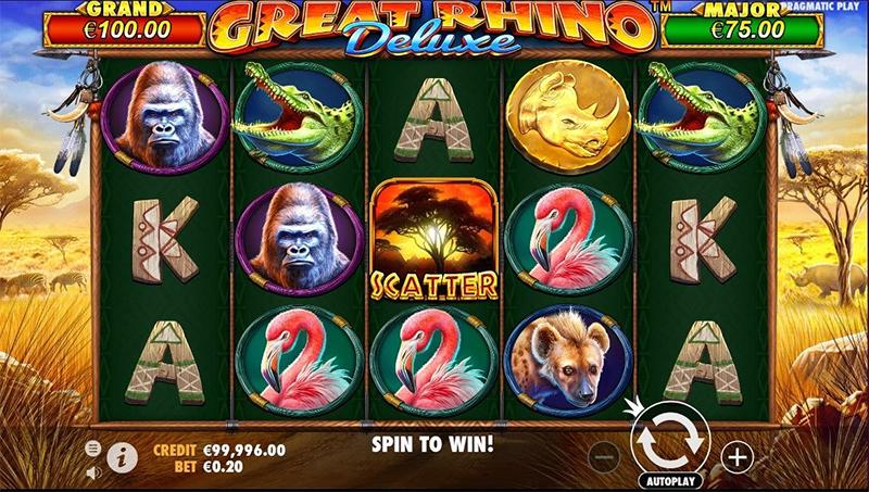 Gambar Slot Great Rhino Deluxe - CasinoTopp