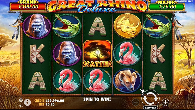 Great Rhino Deluxe Slot Images - CasinoTopp