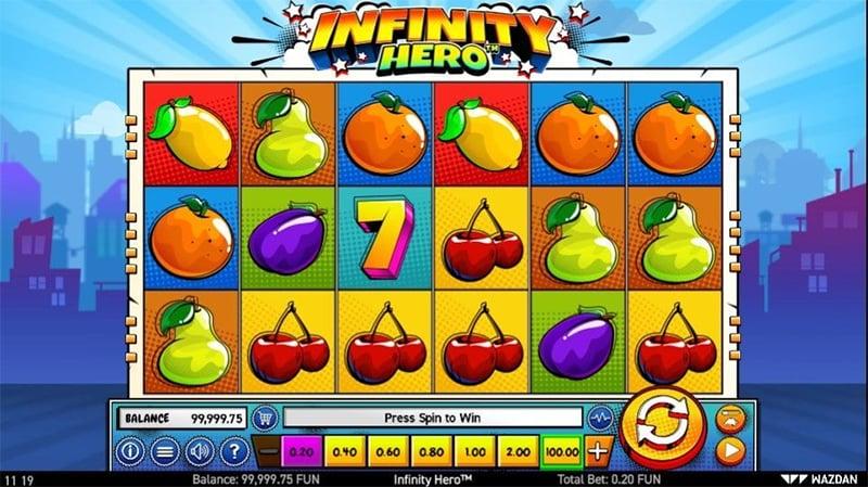 Infinity Hero Slot Images - CasinoTopp