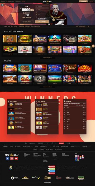 King Billy Casino Screenshot