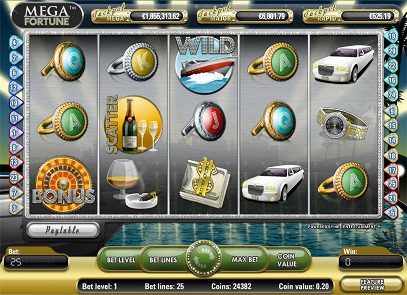 Mega Fortune Slot Images - CasinoTopp