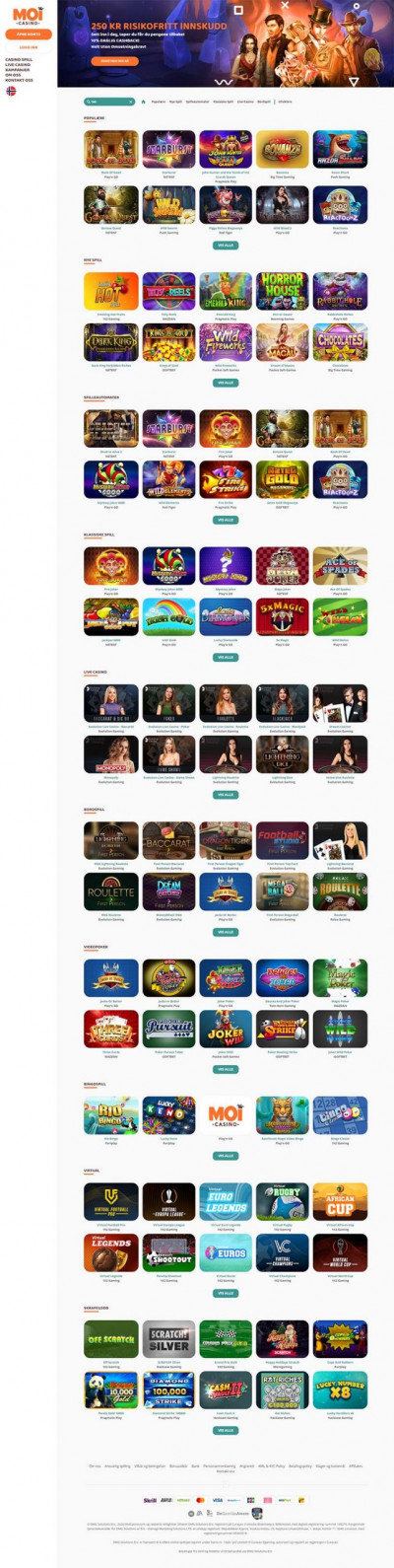 MoiCasino Screenshot