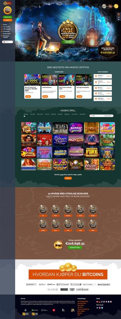MonteCryptos Casino Screenshot