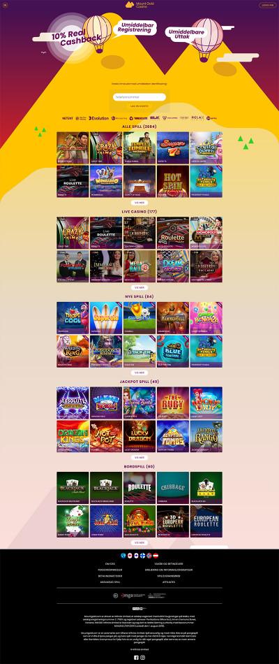 Mount Gold Casino Screenshot