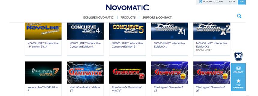 Novomatic Spillutvalg - CasinoTopp