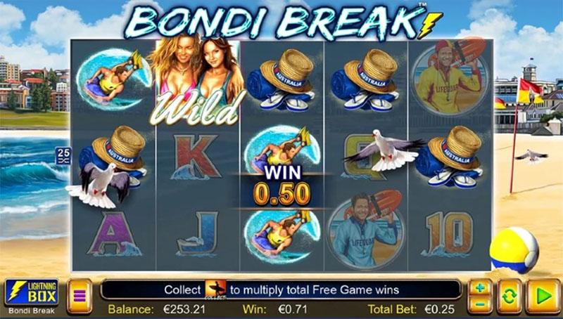 Nye Bondi Break fra Lightning Box lar deg surfe bolgene i Australia Screenshot - CasinoTopp