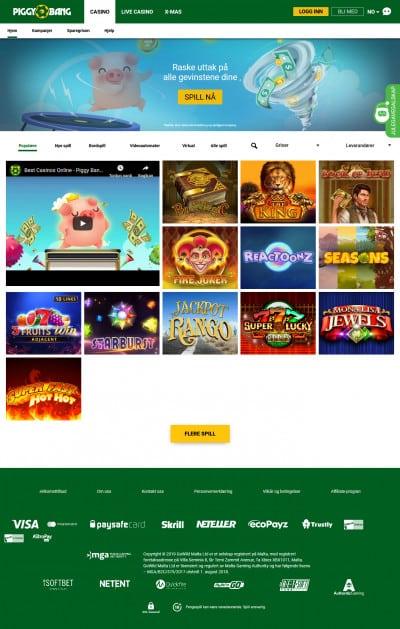 Piggy Bang Casino Screenshot
