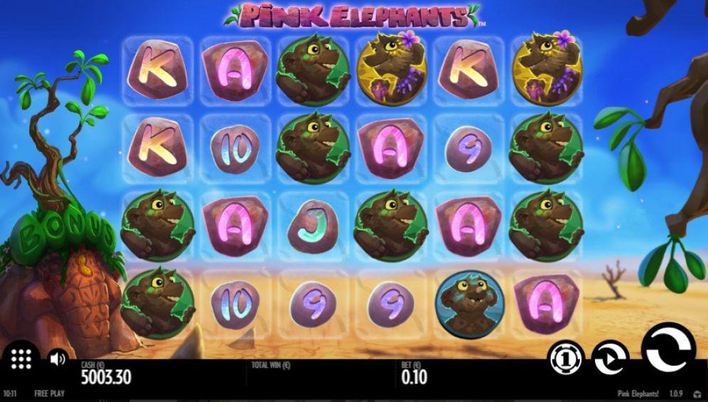 Pink Elephants Slot Images - CasinoTopp