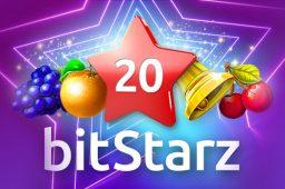 Prøv lykken på den nye 20 BitStarz-spilleautomaten og vinn opptil 2000x innsatsen din