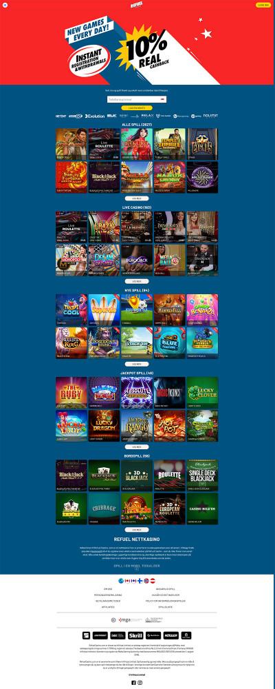 Refuel Casino Screenshot