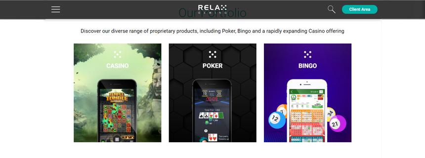 Relax Gaming Spillutvalg - CasinoTopp