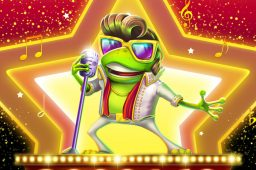 Rist løs med spilleautomaten Elvis Frog in Vegas