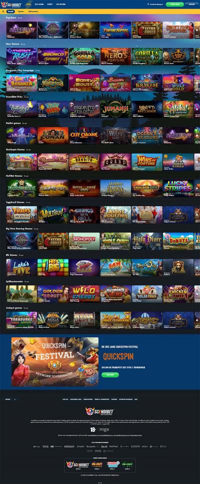 ScandiBet Casino Screenshot
