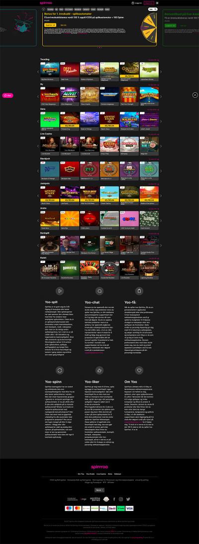 SpinYoo Casino Screenshot