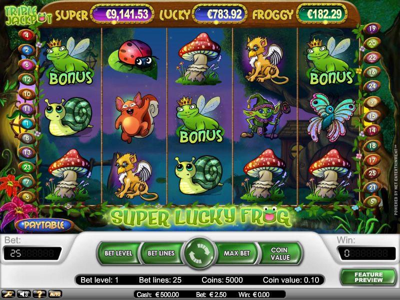 Super Lucky Frog Slot Screenshot - CasinoTopp