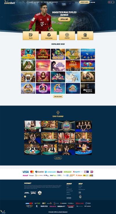 Svenbet Casino Screenshot