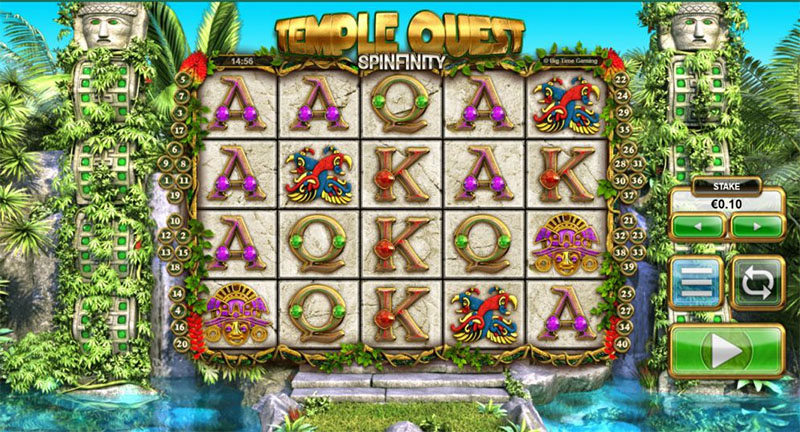Temple Quest Spinfinity Slot Screenshot - CasinoTopp
