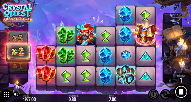 Thunderkick hari ini meluncurkan tangkapan layar Crystal Quest Arcane Tower - CasinoTopp