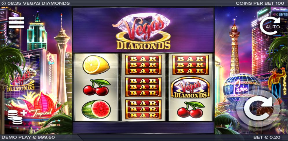 Vegas Diamonds Slot Images - CasinoTopp