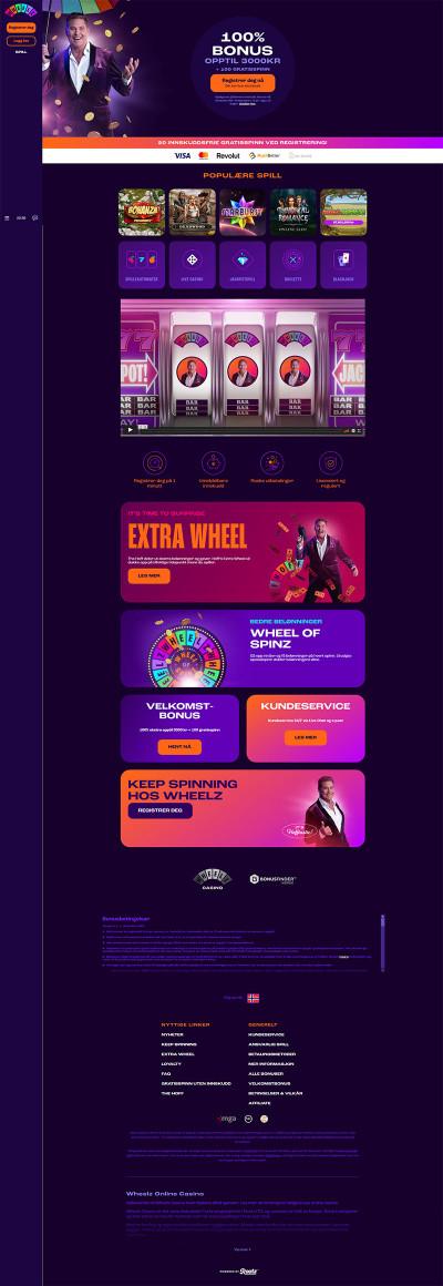 Wheelz Casino Screenshot