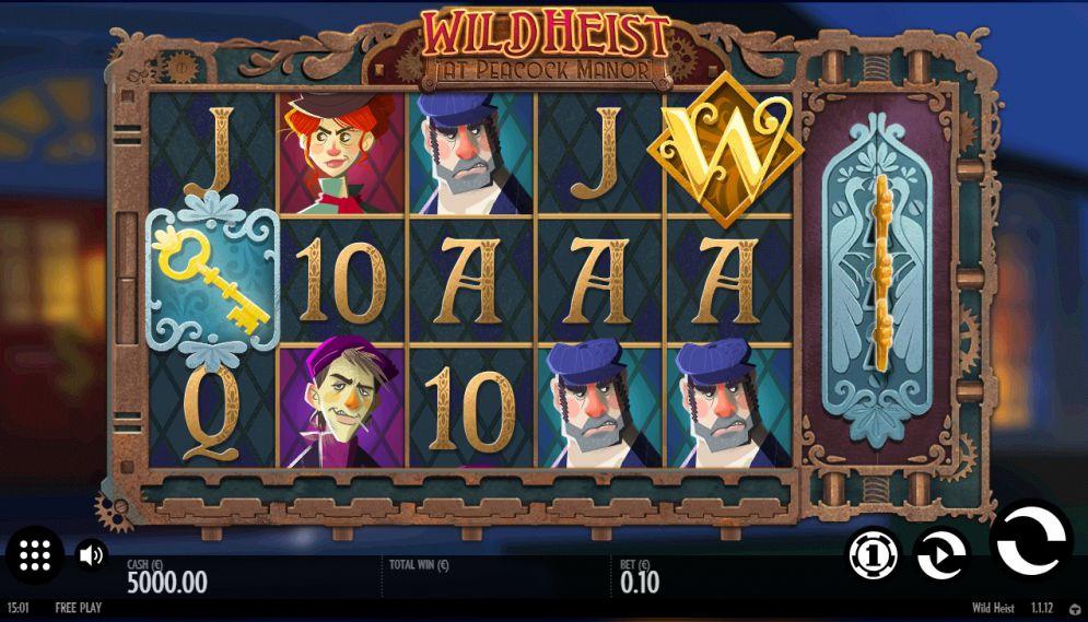 Wild Heist at Peacock Manor Slot Images - CasinoTopp