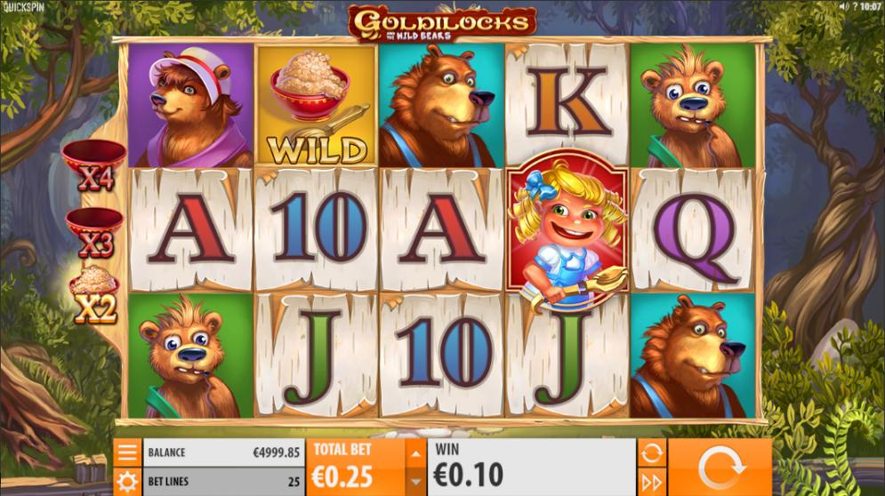 Goldilocks and the Wild Bears Logo