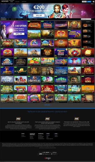 MrFavorit Casino Screenshot