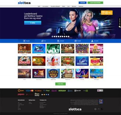 Slottica Casino Screenshot