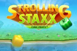 Spela med fyrkantiga frukter i NetEnts nya slot Strolling Staxx- Cubic Fruits