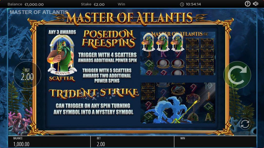 Master of Atlantis - Screenshot 1 | CasinoTopp