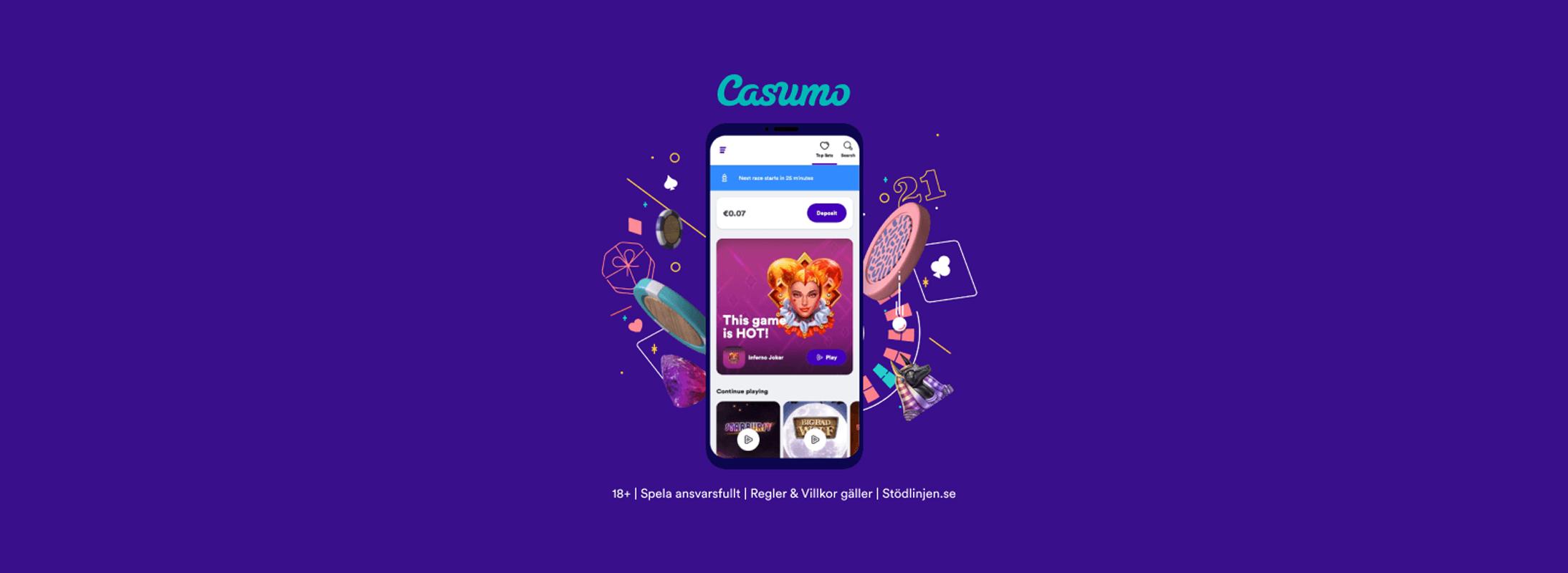 Casumo har uppdaterat sajten med en ny design - Sweden CasinoTop Banner