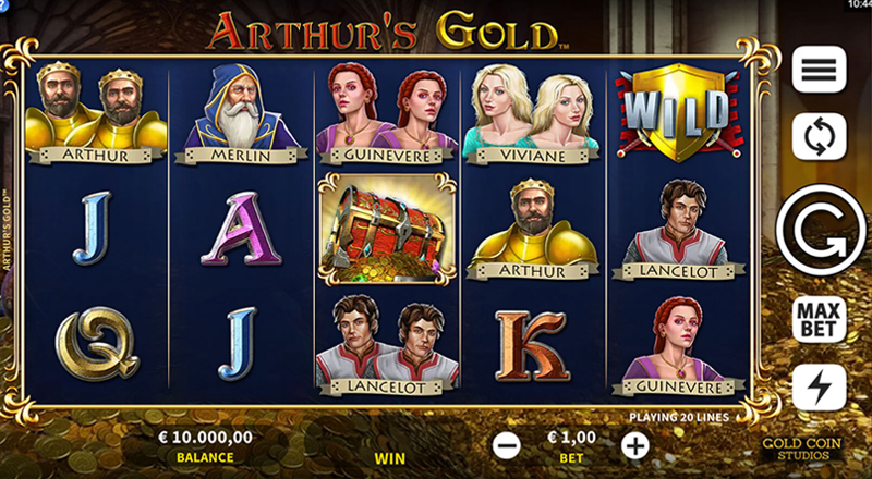 Arthur's Gold – Gold Coin Studios Microgaming - CasinoTopp