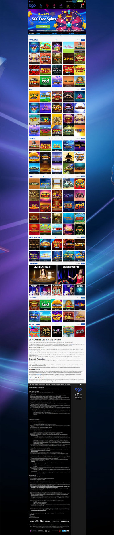 BGO Casino Screenshot