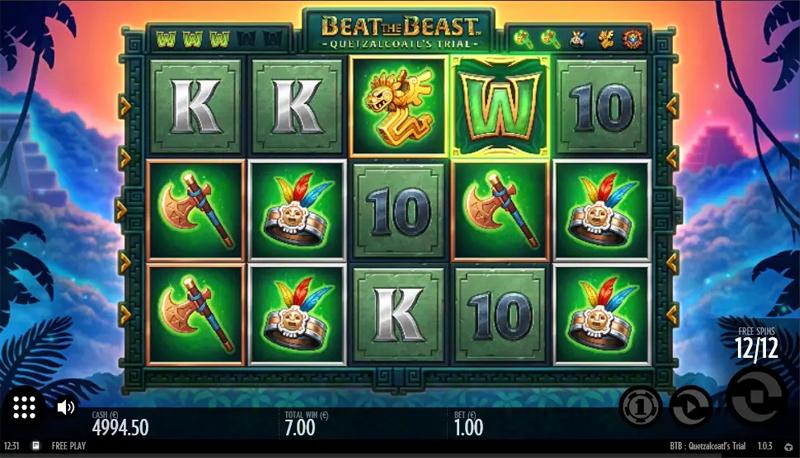 Beat the Beast Quetzalcoatl's Trial - Thunderkick - CasinoTopp