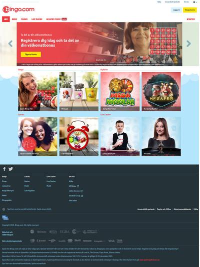 Bingo.se Casino Screenshot