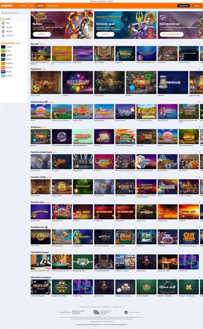 Expekt Casino Screenshot