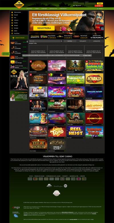 Gday Casino Screenshot