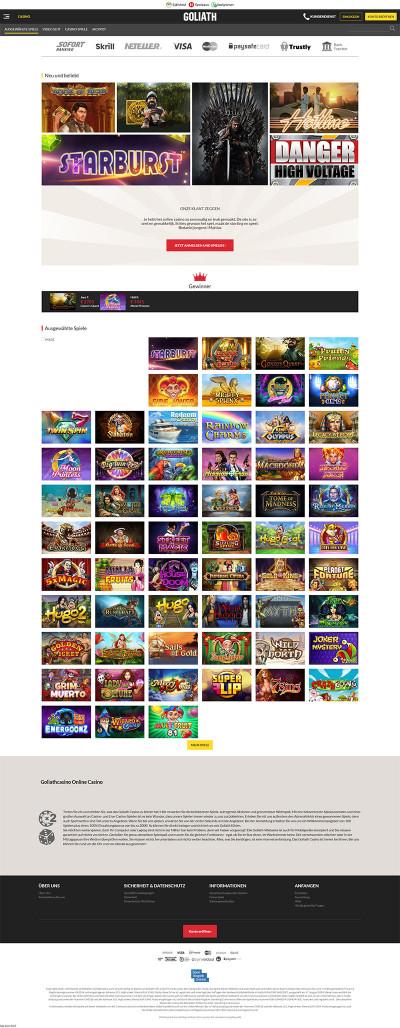 Goliath Casino Screenshot