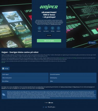 Hajper Casino Screenshot