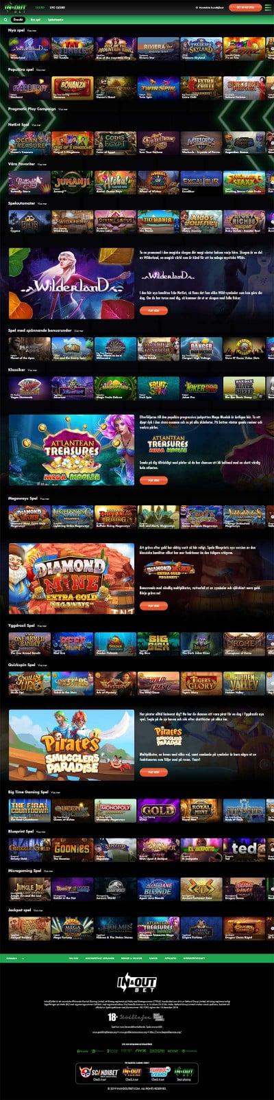 Inandoutbet Casino Screenshot