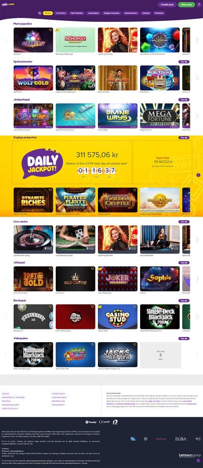 Jalla Casino Screenshot