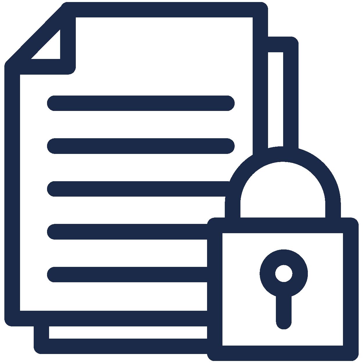 Krypterade uppgifter icon