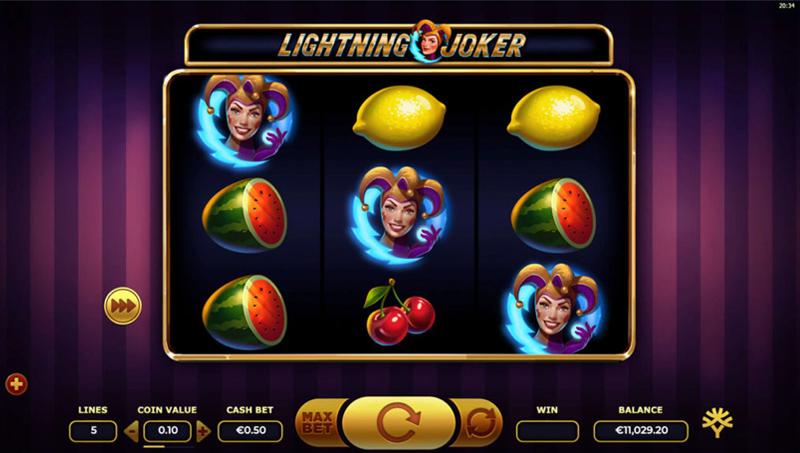 Lightning Joker - Yggdrasil - CasinoTopp
