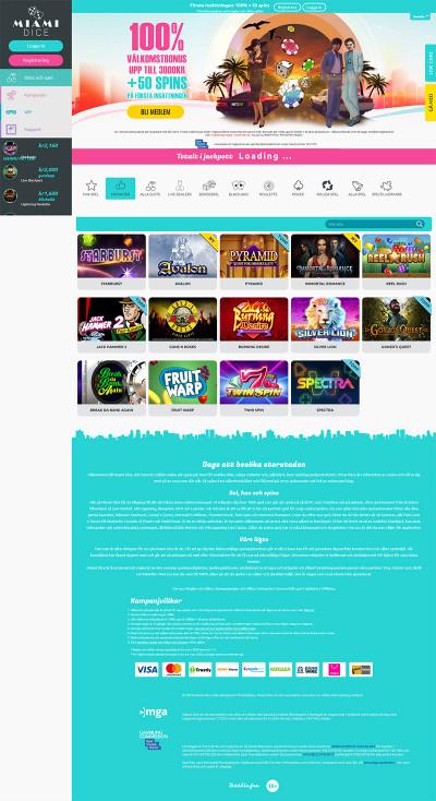 Miami Dice Casino Screenshot