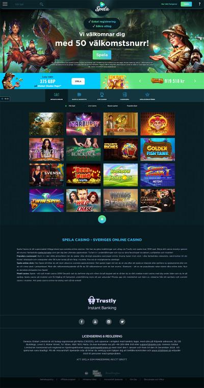 Spela Casino Screenshot