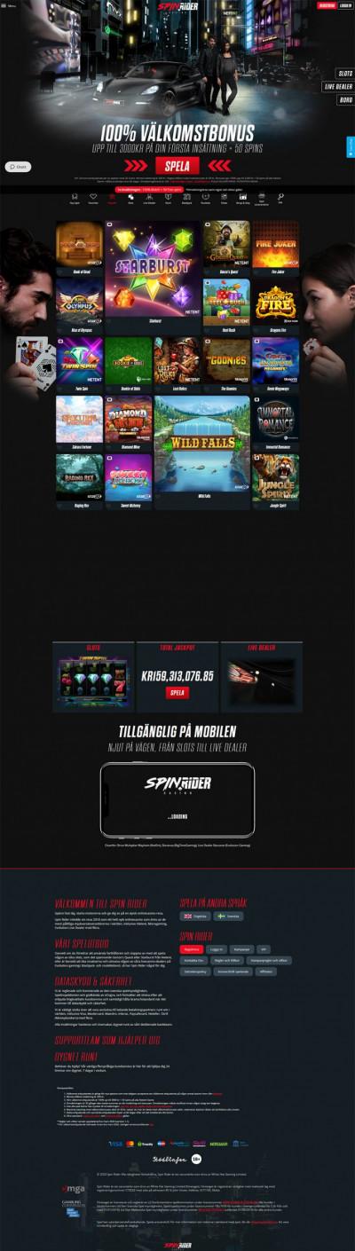 Spinrider Casino Screenshot