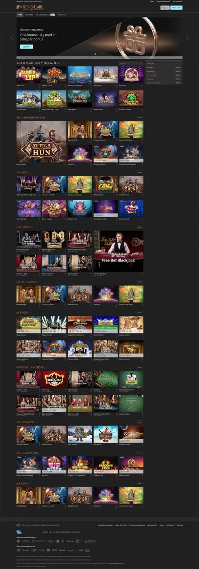 Storspelare Casino Screenshot