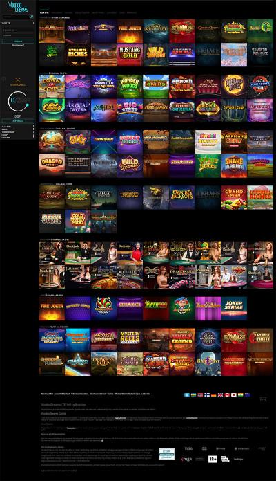 VoodooDreams Casino Screenshot