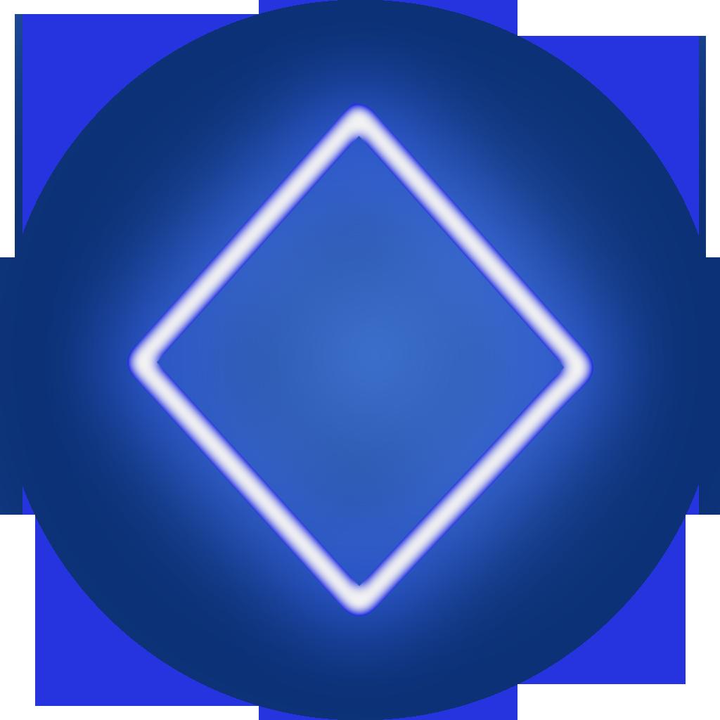poker diamond icon blue