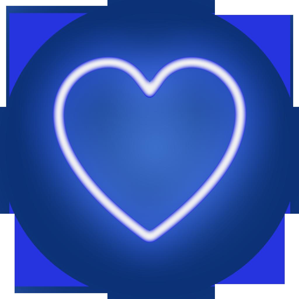 poker heart icon blue